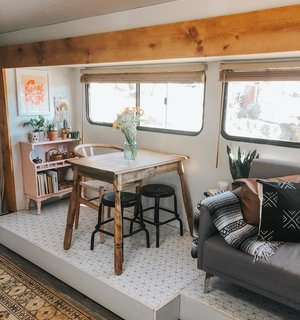 A Young Family's 200-Square-Foot RV Fits Two Bedrooms and a Playroom