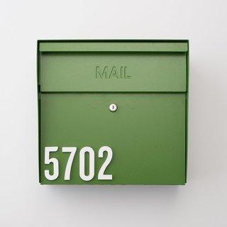 Schoolhouse Locking Mailbox - Green