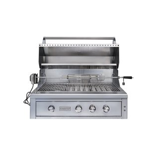 EdgeStar 42 Inch Wide Natural Gas Built-In Grill with Rotisserie and LED Light