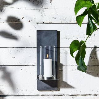 Blomus Wall-Mounted Outdoor Candle Holder