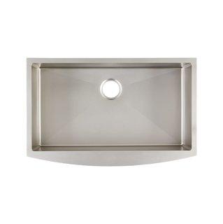 Signature Hardware Farmhouse Single Basin Stainless Steel Kitchen Sink