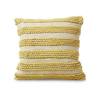 Allswell Yellow Cotton Textured Pillow