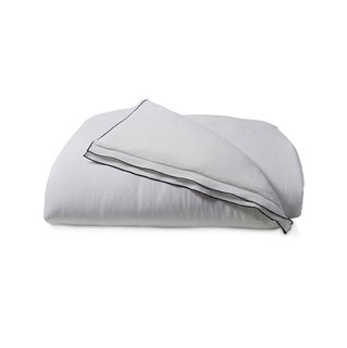 Allswell White Linen Double Hemmed Duvet Cover