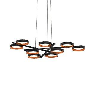 Sonneman Lighting Guide Ring 9-Light LED Chandelier