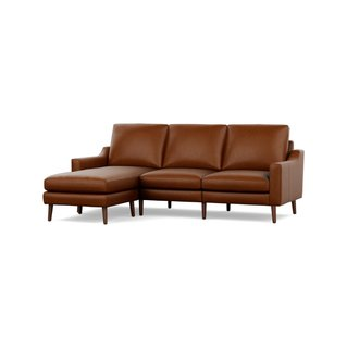 Burrow Nomad Chestnut Leather Sectional