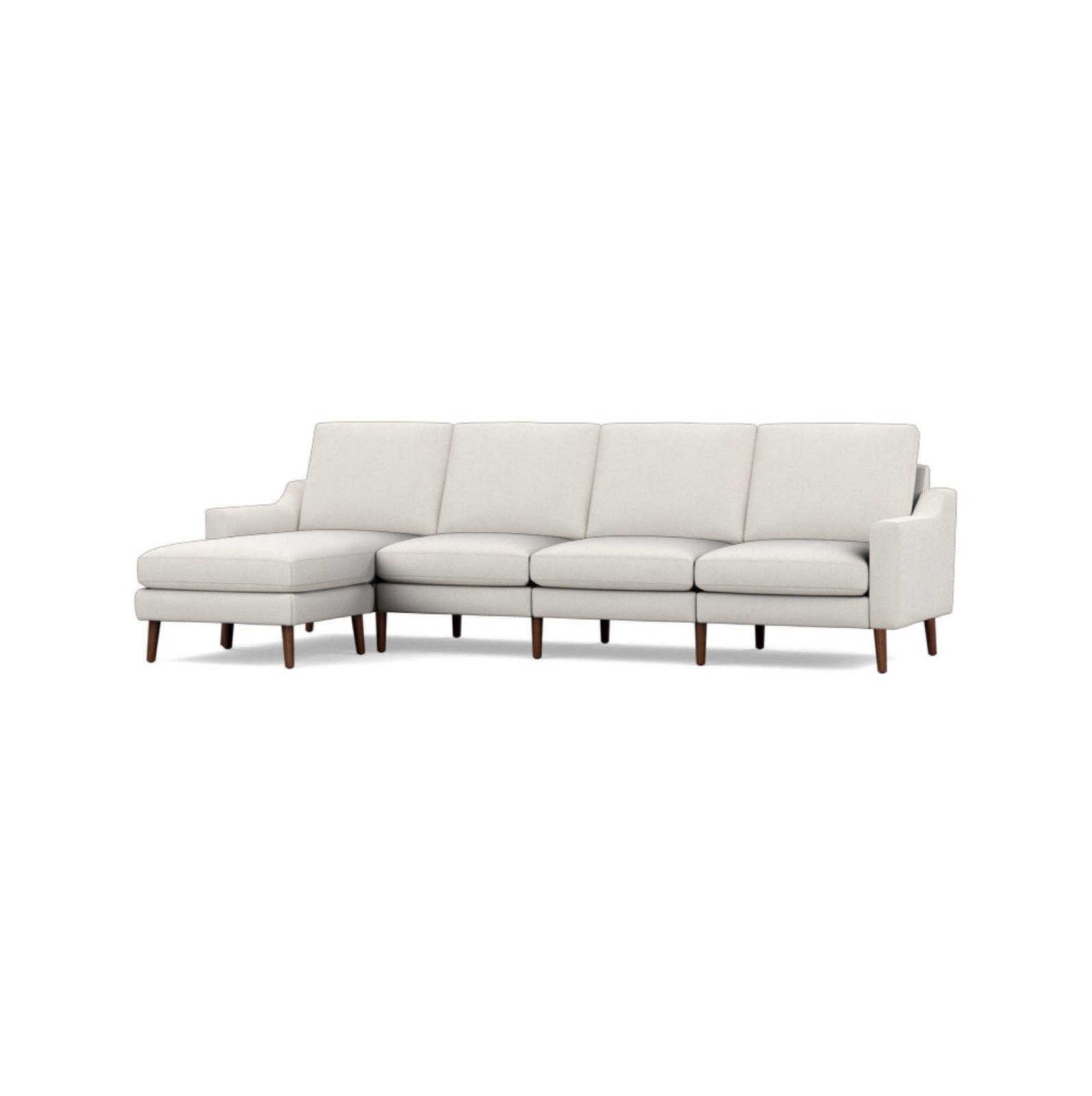 Wondrous Burrow Nomad Ivory Fabric King Sectional By Burrow Dwell Inzonedesignstudio Interior Chair Design Inzonedesignstudiocom