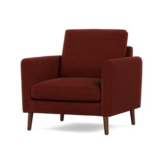 Burrow Brick Red Nomad Armchair