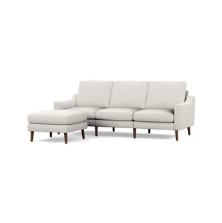Burrow Ivory Nomad Sofa with Ottoman