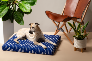 Laylo Blue Bogolan Pet Bed