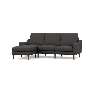 Burrow Nomad Charcoal Low Arms Sofa Sectional