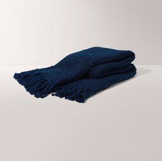 Burrow Navy Essential Throw