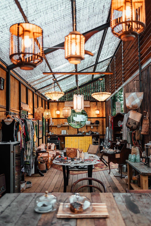 Living Room, Chair, Pendant Lighting, Coffee Tables, and Medium Hardwood Floor  La Finca Victoria