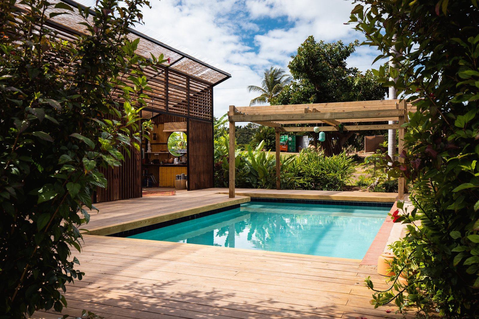 Outdoor, Wood Patio, Porch, Deck, Shrubs, and Swimming Pools, Tubs, Shower  La Finca Victoria