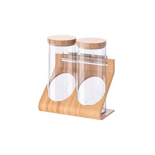IKEA RIMFORSA Glass and Wood Containers