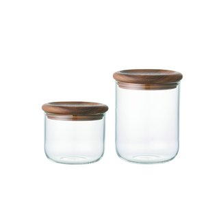 Baum Neu Glass & Wood Storage Canisters (Set of 2)