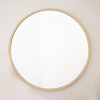 West Elm Metal Framed Round Mirror