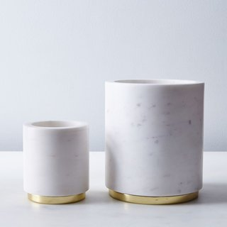 Hawkins New York Marble and Metal Canister