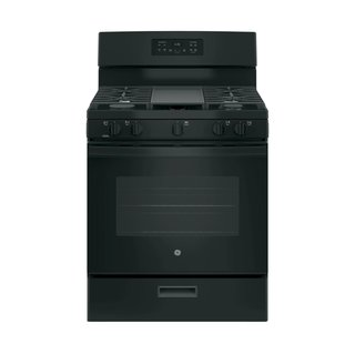 "GE 30"" Freestanding Gas Range With Center Oval Burner and Griddle"