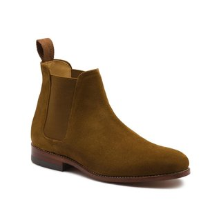 G.H. Bass & Co. Monogram Suede Chelsea Boot