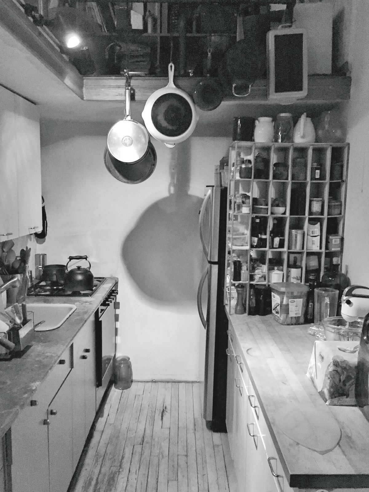 Before: OSSO Architecture renovated Brooklyn loft apartment kitchen