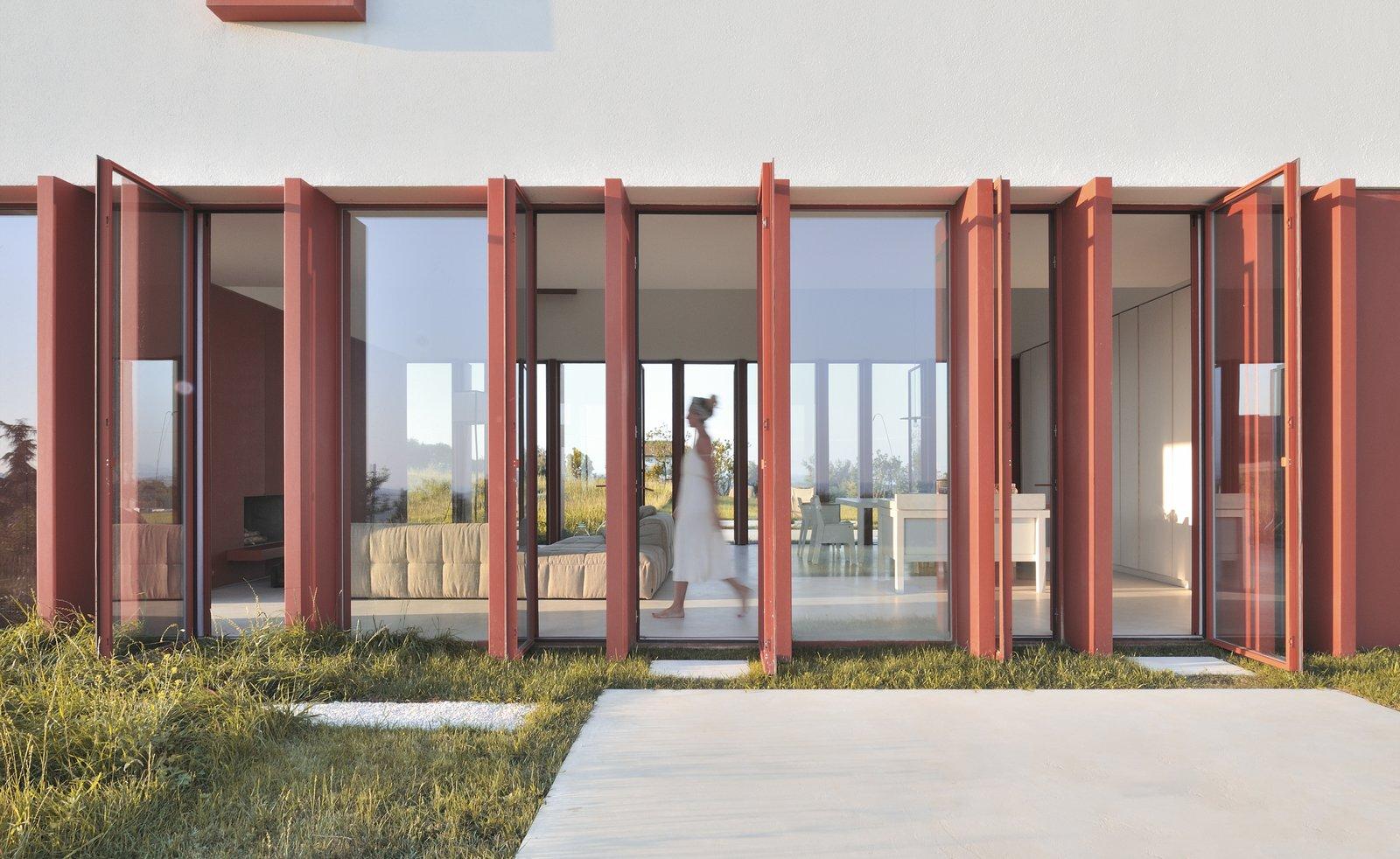 Simone Subissati Border Crossing House hallway with swing doors