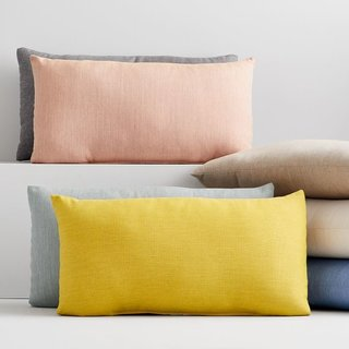 Sunbrella Solid Indoor/Outdoor Cast Lumbar Pillows