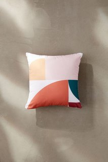 The Old Art Studio For Deny Abstract Geometric 10 Outdoor Throw Pillow