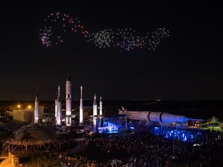 300 Drones and Duran Duran Salute the 50th Anniversary of the Moon Landing