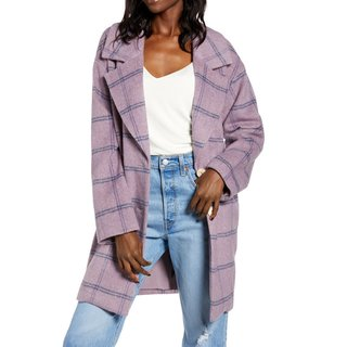 ASTR the Label Plaid Flannel Coat
