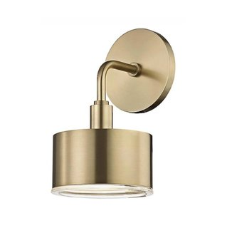 Mitzi By Hudson Valley Lighting Nora Brass Wall Sconce