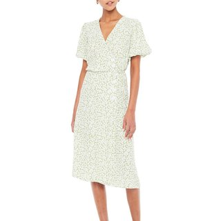 FAITHFULL The Brand Marta Floral Wrap Midi Dress
