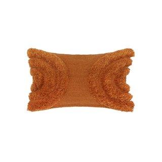 Lulu & Georgia Arches Lumbar Pillow in Rust