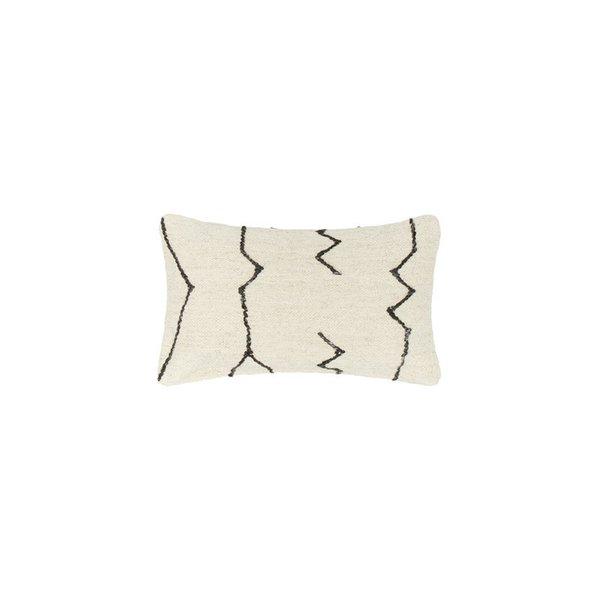 Lulu Amp Georgia Moroccan Flatweave Lumbar Pillow In Black