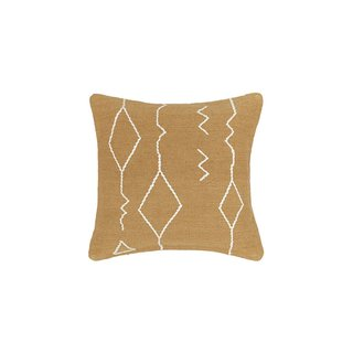 Lulu & Georgia Moroccan Flatweave Throw Pillow in Ochre