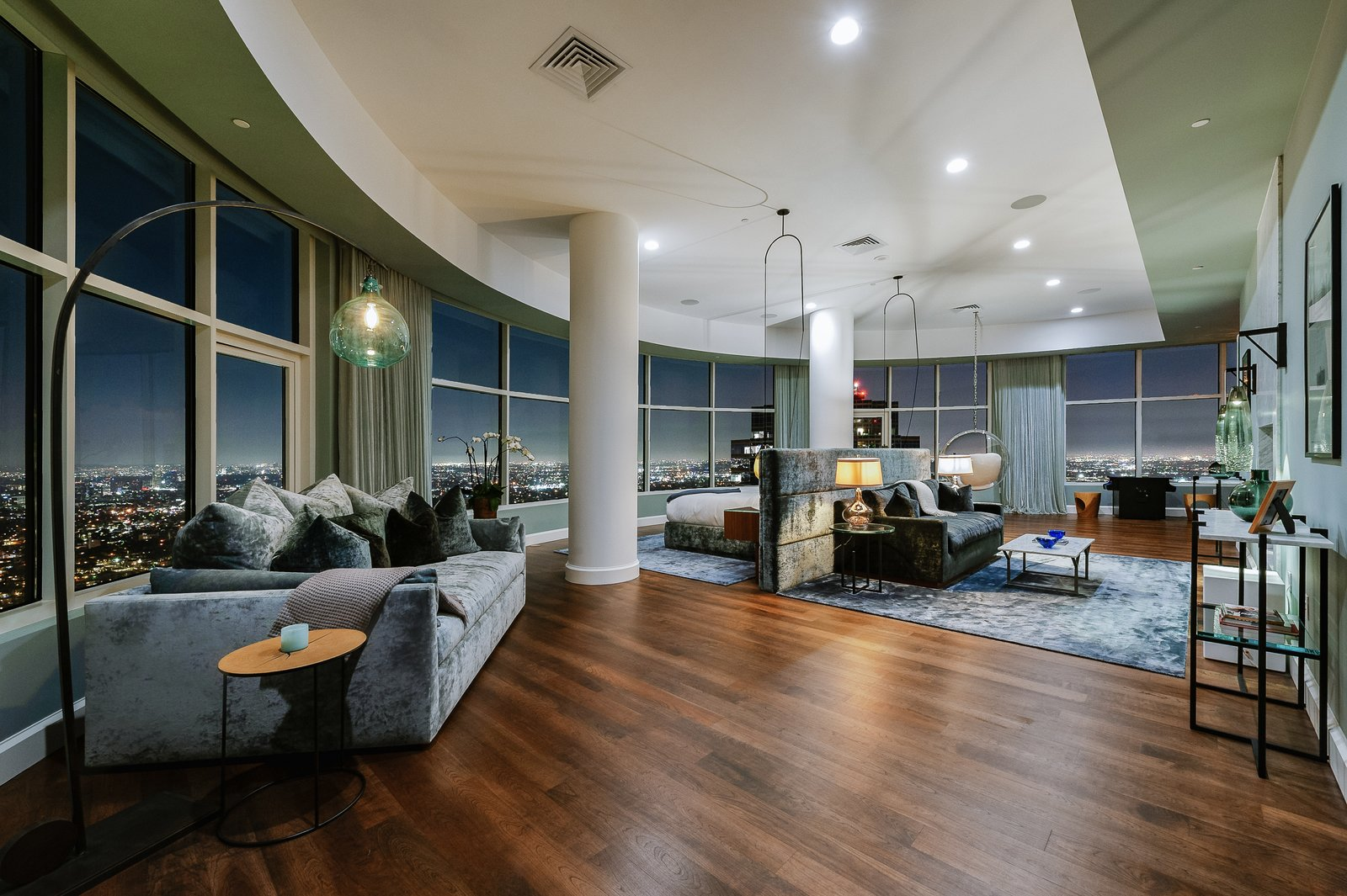 """Photo 1 of 9 in """"Friends"""" Star Matthew Perry Lists His Circular L.A. Penthouse For $35M"""