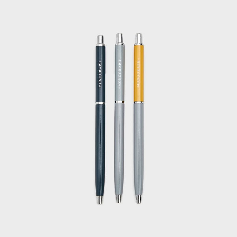 Monograph Ball Pen, Set of 3
