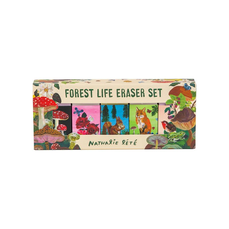 Chronicle Books Forest Life Eraser Set by Nathalie Lete
