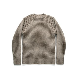 Taylor Stitch Fisherman Sweater in Natural Waffle
