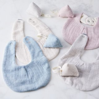 Morihata International Organic Cotton Japanese Baby Bib & Rattle Gift Set