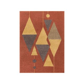 Well Woven Scarlett Red Mid-Century Modern Rug
