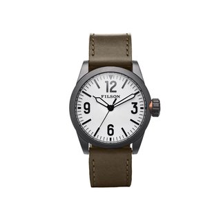 Filson Field Leather Strap Watch, 42mm