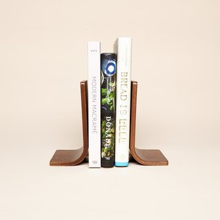 Pair of Walnut Bookends