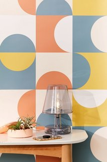 Urban Outfitters Mid-Century Geometric Removable Wallpaper