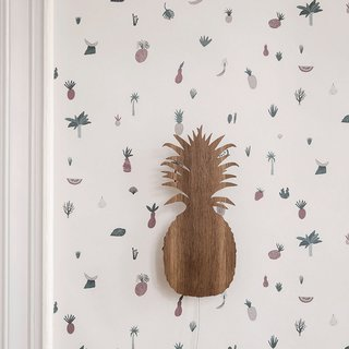 Ferm Living White Fruiticana Wallpaper