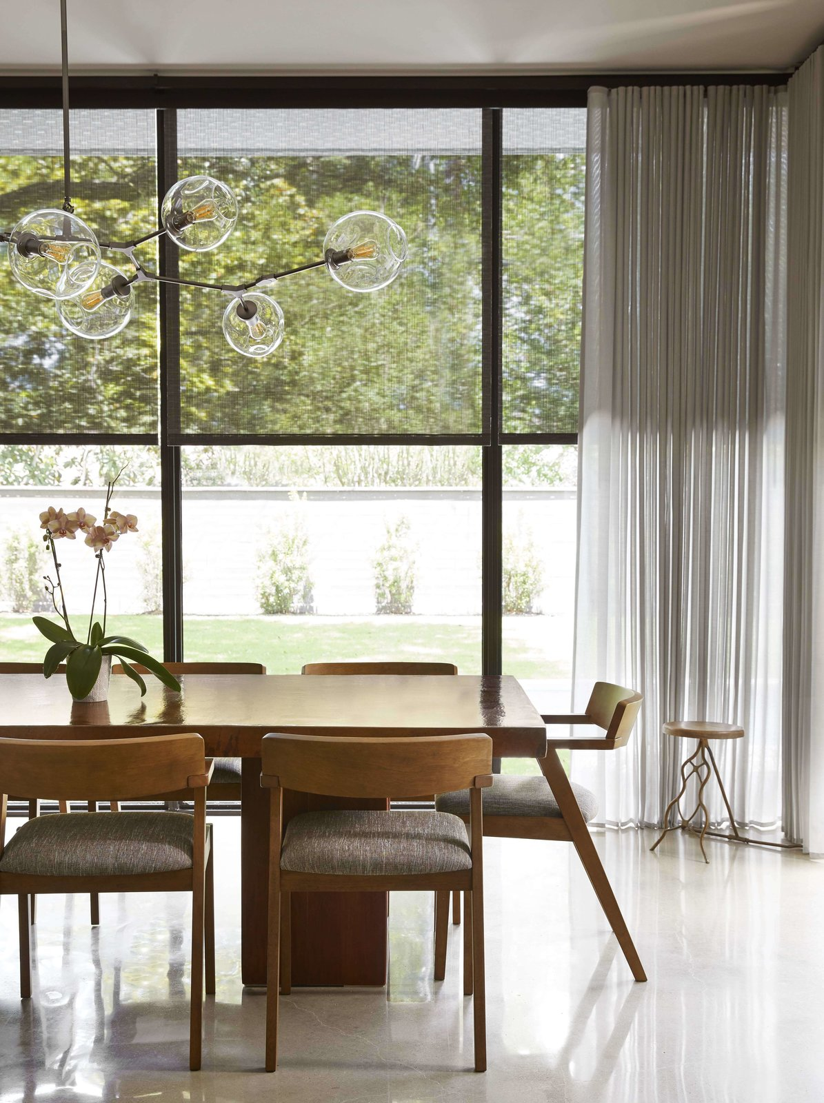 Photo 2 of 3 in Modern Shades and Draperies Integrate Seamlessly Into a Houston Renovation