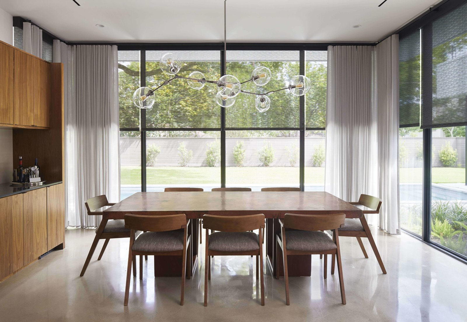 Photo 3 of 3 in Modern Shades and Draperies Integrate Seamlessly Into a Houston Renovation