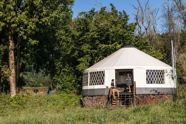 Construction Diary: A Young Couple DIY a Lofted Yurt in Portland