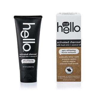 Hello Activated Charcoal Whitening Fluoride Toothpaste