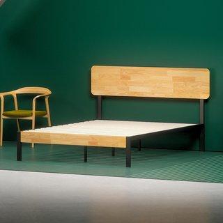 Zinus Olivia Metal and Wood Platform Bed Frame