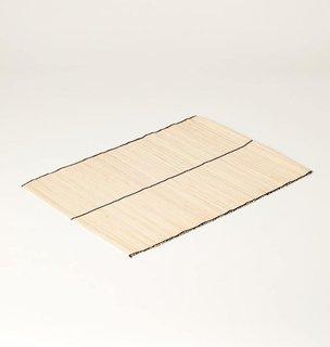 KAZI Goods Natural Striped Raffia Placemat, Set of 2